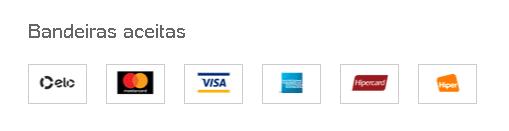 bandeiras aceitas para pagamento