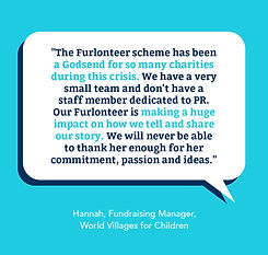 Testimonial quote by charity World Villages for Children