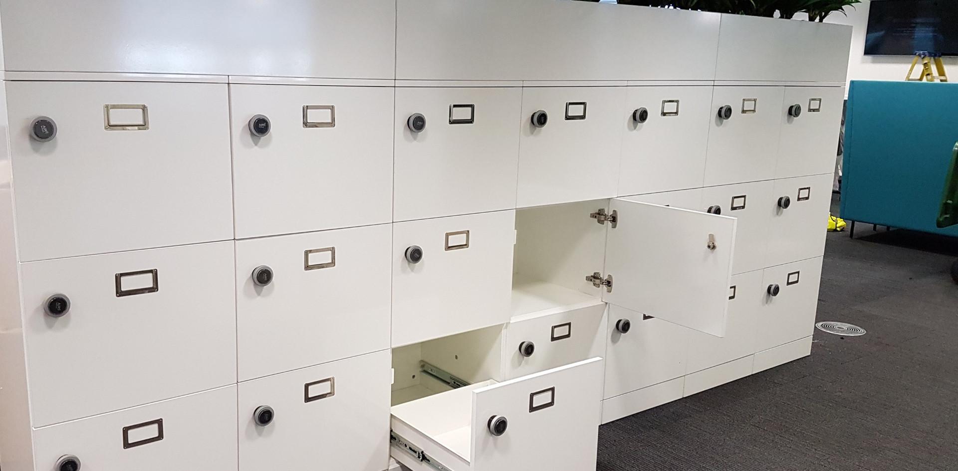 bespoke agile workplace locker with RFID Lock