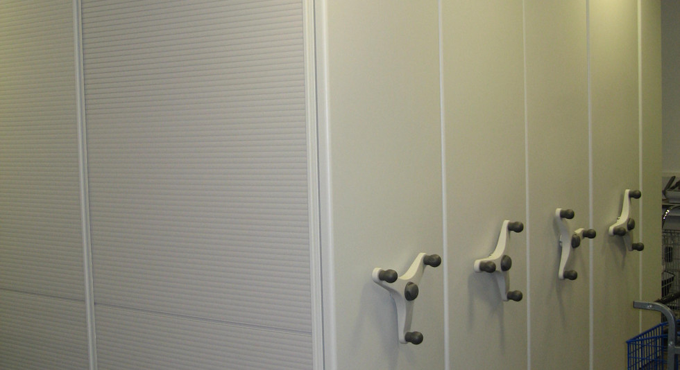 mobile shelving roller racking system tambour doors