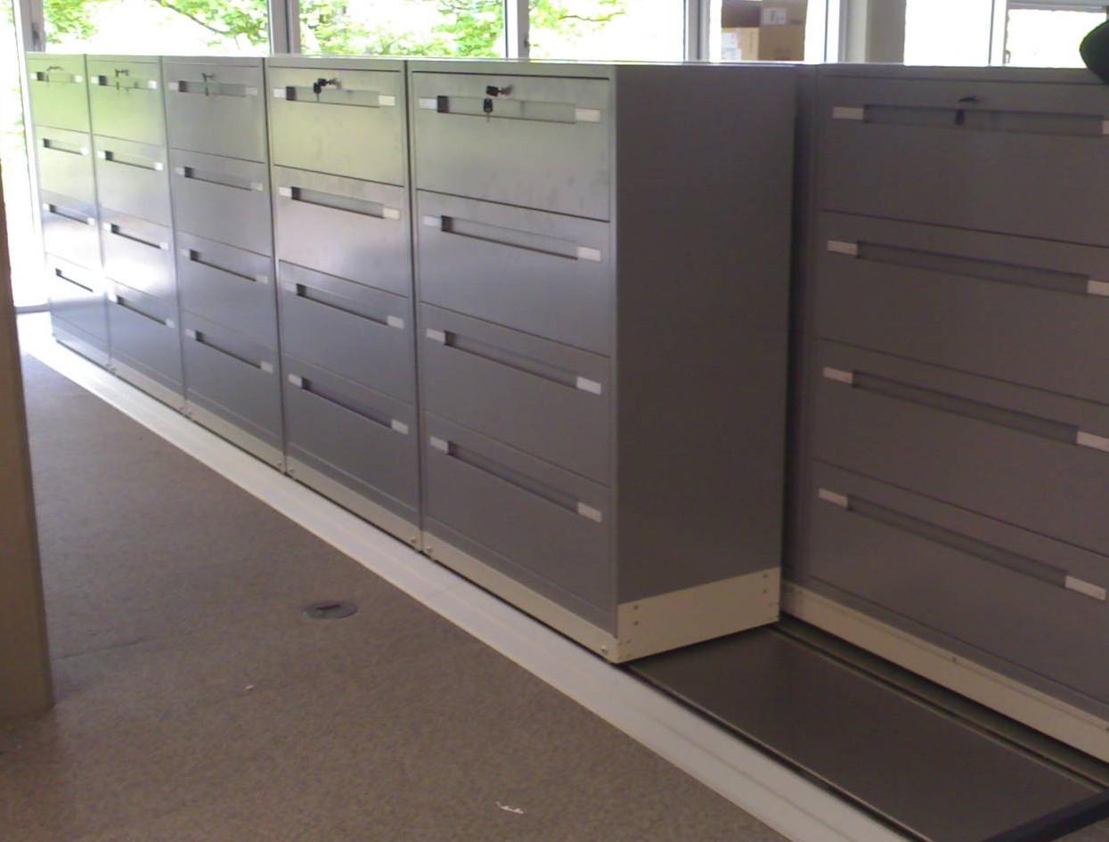 slide a side roller racking mobile storage cabinets filing system