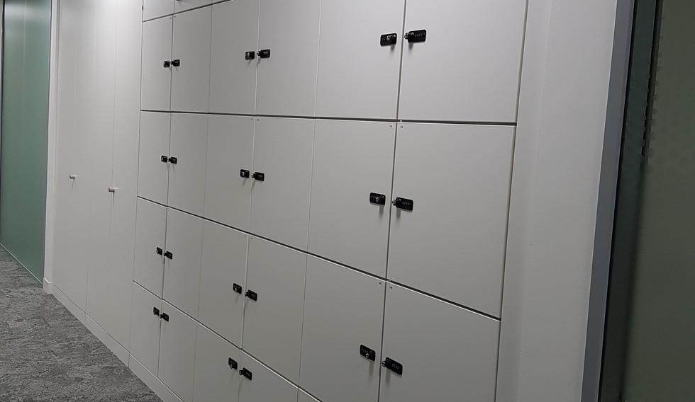 flexible working agile smart lockers with combination lock