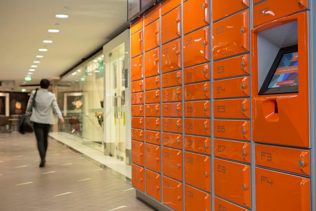 steel parcel public access intelligent lockers