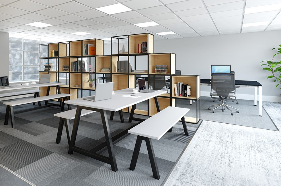multifunctional workspace grid contemporary office furniture