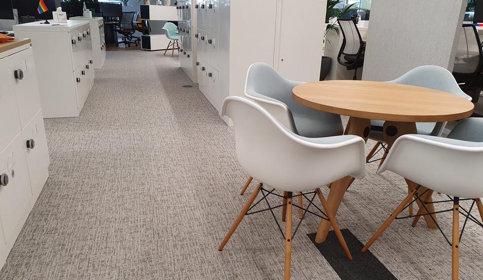 hot desking agile smart workplace lockers with RFID locks