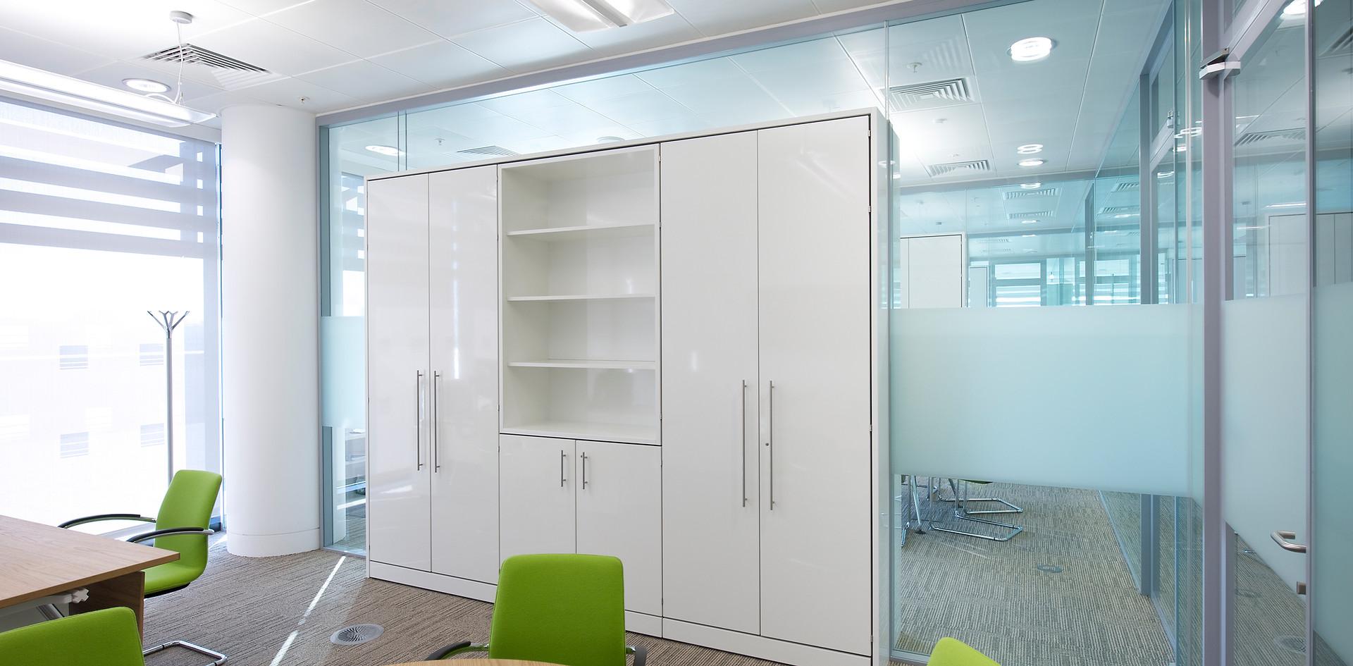 tallwall storage wall office workplace storage open shelving