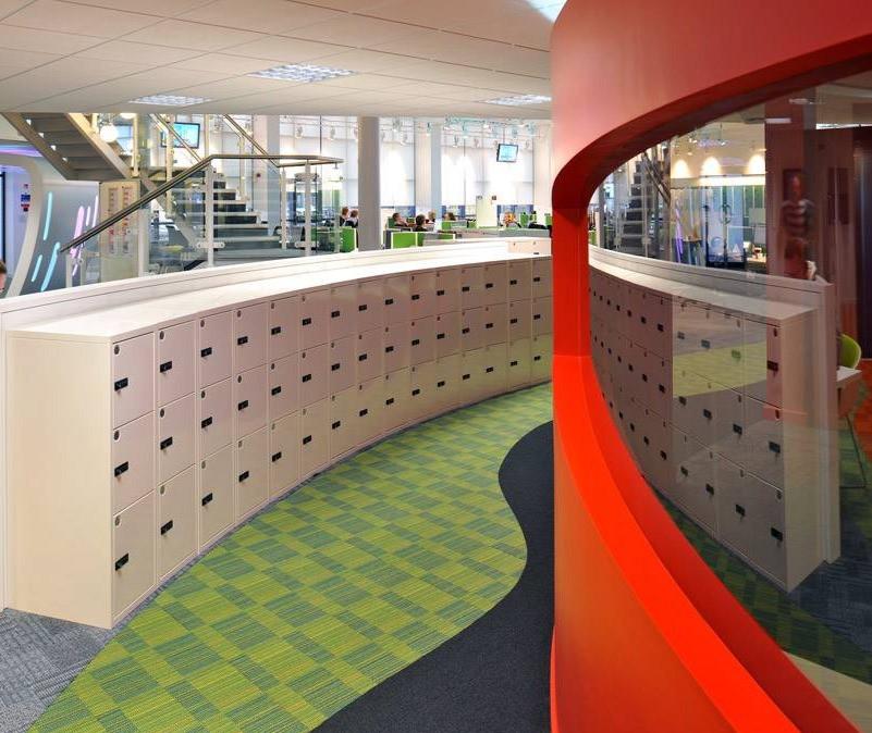 bespoke agile smart hot desking locker combination locks