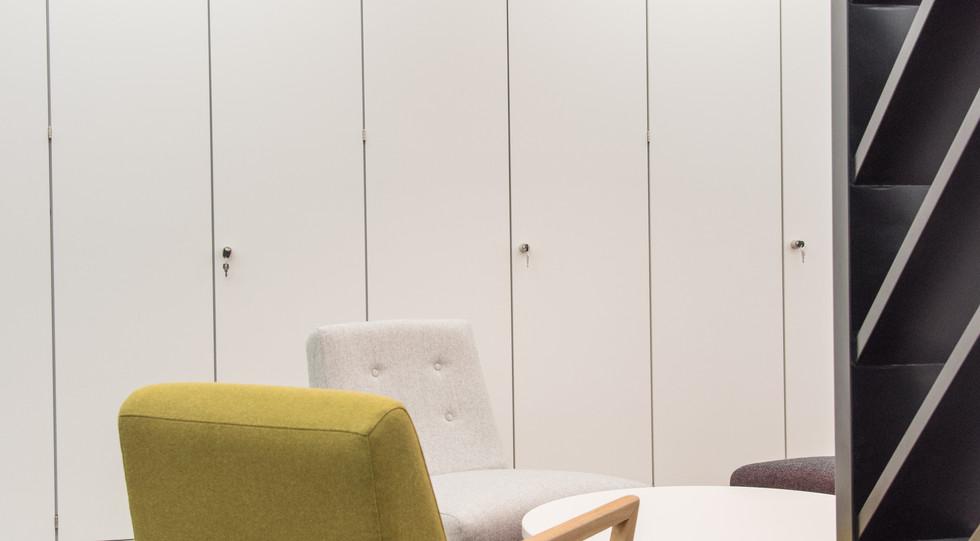 workplace storage wall