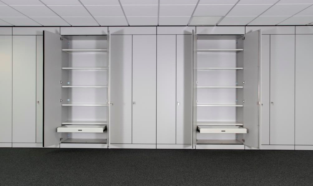 storagewall tall wall workplace office storage pull out filing frames shelving