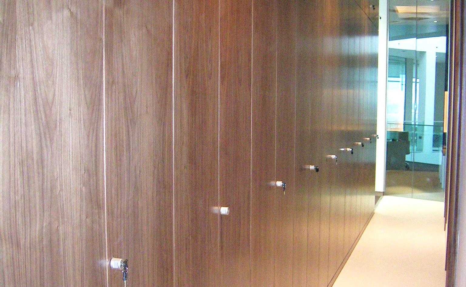 tallwall storagewall full height walnut finish
