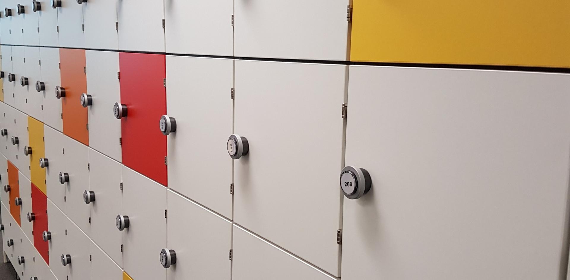 bespoke hot desking lockers with RFID locks