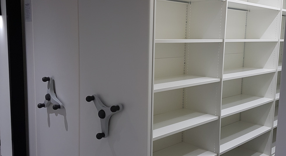 mobile storage roller racking moveable filing high density storage system archive shelving