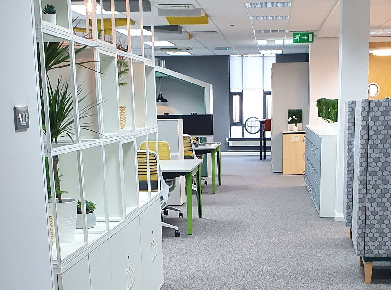 flexible workspace grid furniture