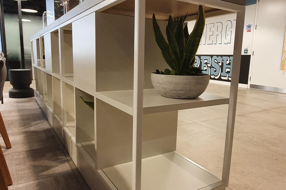 metal frame grid office furniture
