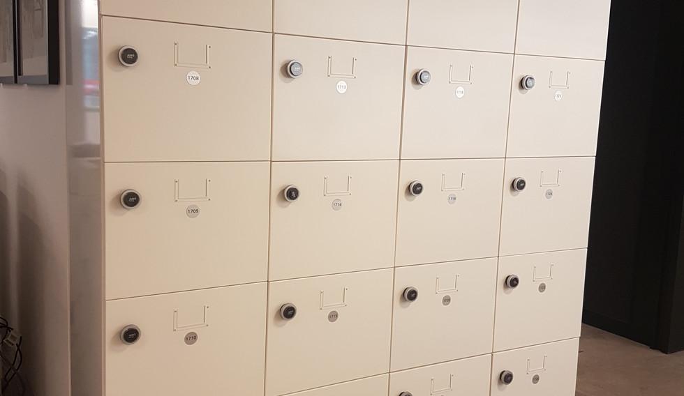 bespoke agile workplace smart steel locker RFID lock