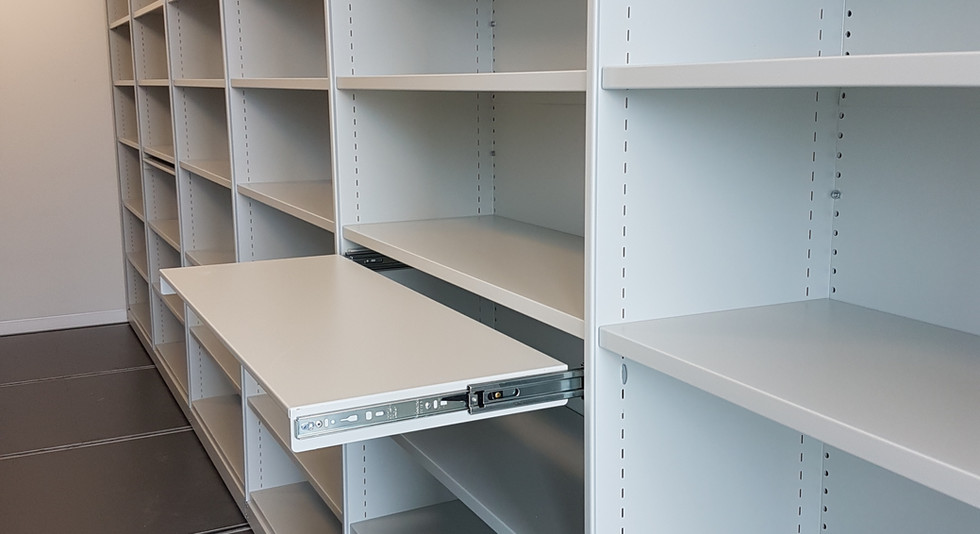 mobile roller racking high density storage pull out shelf