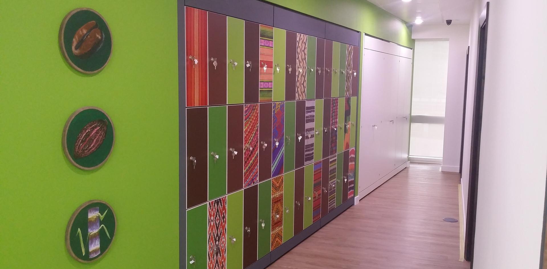 bespoke agile workplace smart flexible working lockers graphic overlay key locking
