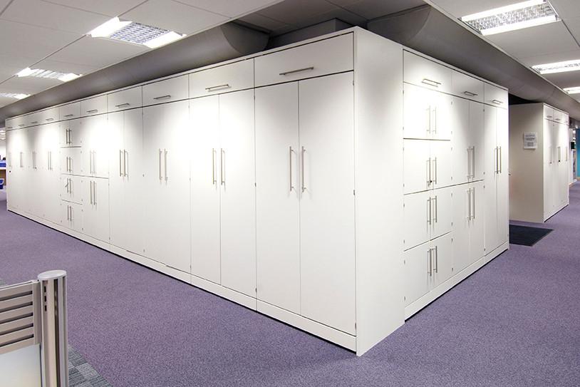 workplace modular storage wall aluminum handle