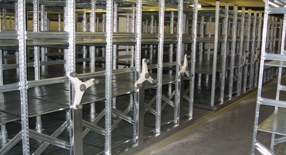 industrial roller mobile racking high density shelving storage