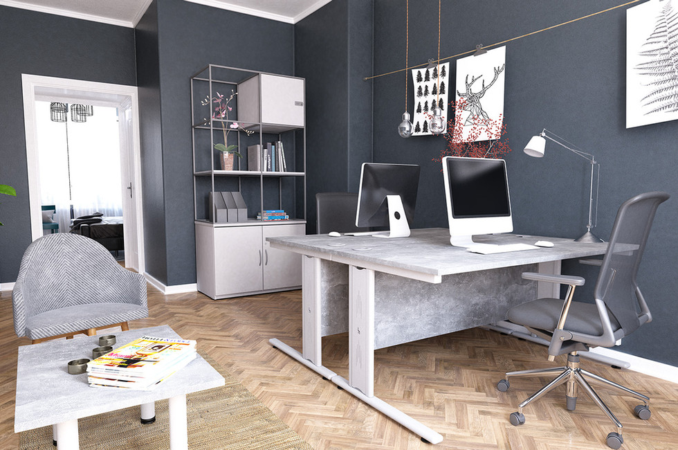 contemporary metal grid office furniture
