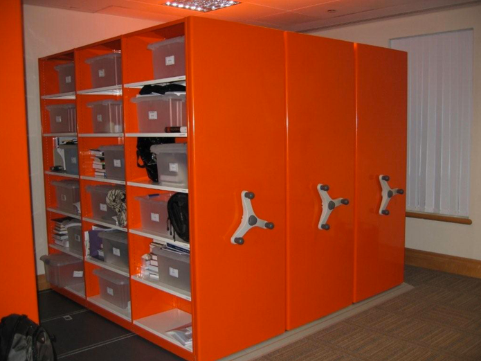 mobile roller racking high density moveable filing storage system coloured