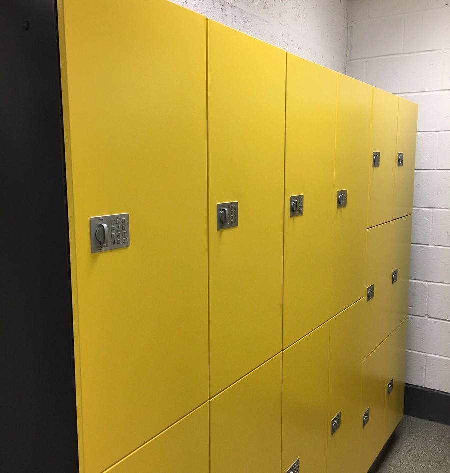 gym wet room lockers minipad RFID combination lock