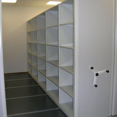 mobile shelving roller racking archive storage high density shelving