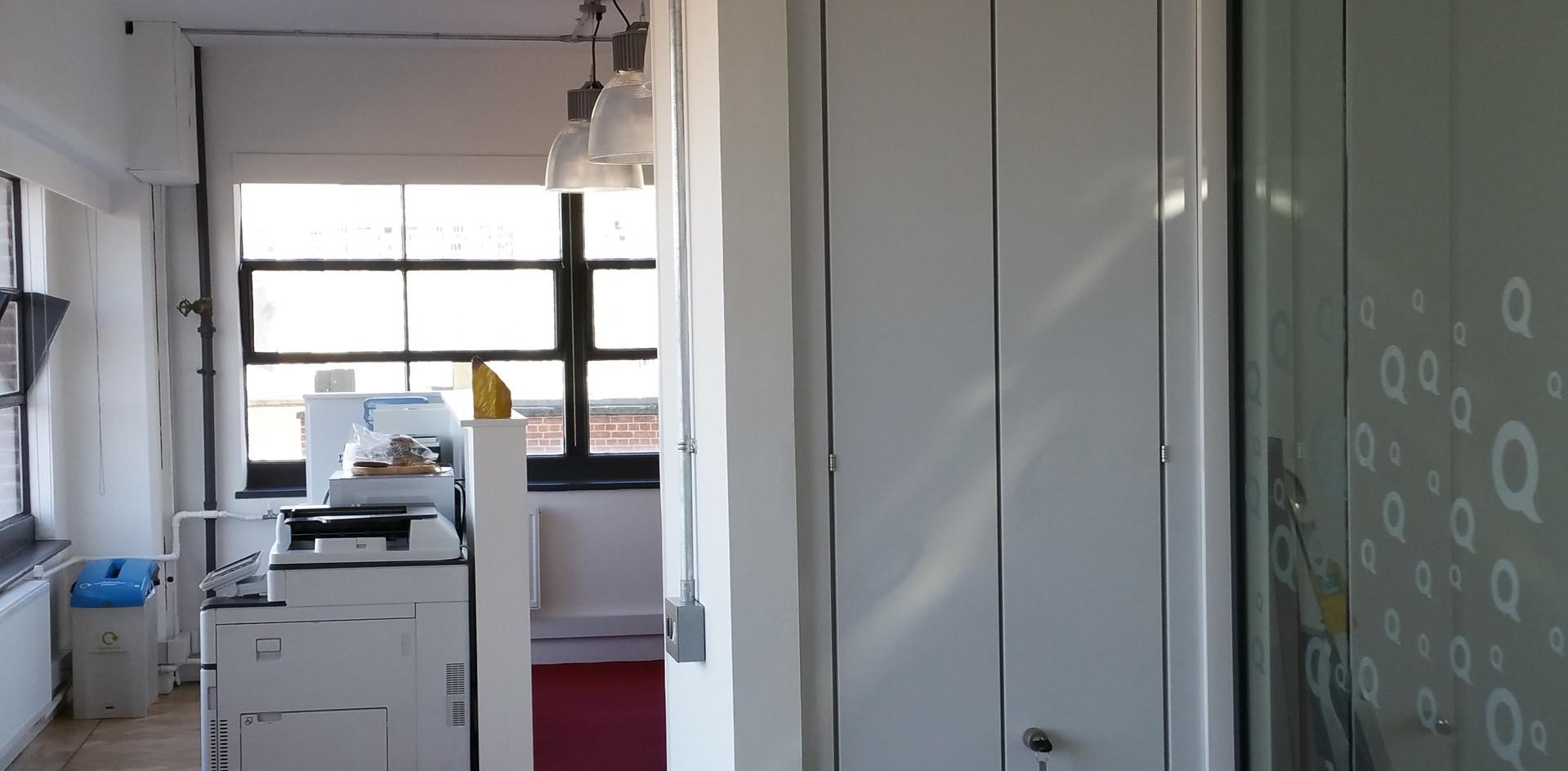 office coat storage wall bespoke workplace storage