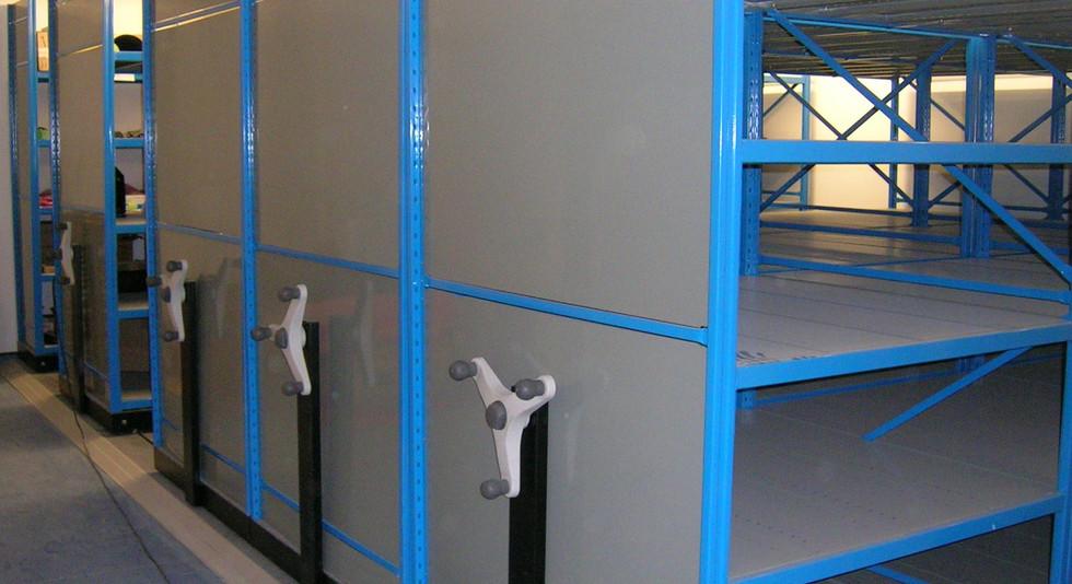 industrial roller mobile racking shelving storage
