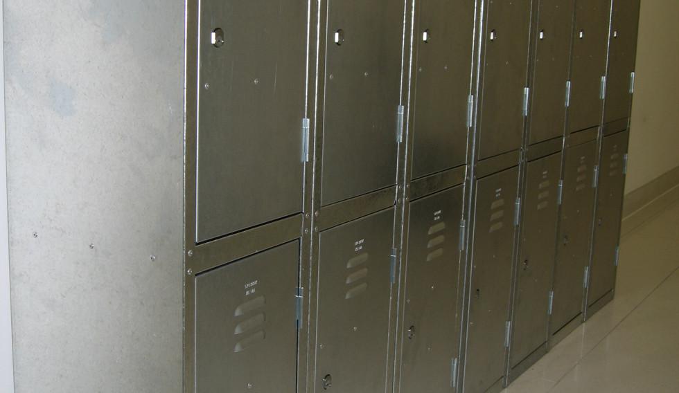 bespoke galvanised steel locker