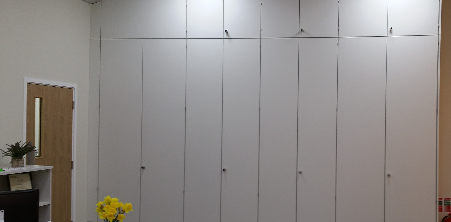 storagewall tallwall full height office storage cupboards sloping ceiling