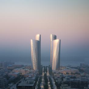 Foster + Partners presenta las Torres Lusail en el nuevo distrito comercial de Qatar
