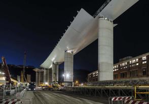 Nuevo puente de Génova que sustituye al que se desplomó trágicamente hace dos años