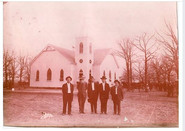 What we beleive to be the first photo taken of the Dew Methodist Church with one of our founding dogs too.
