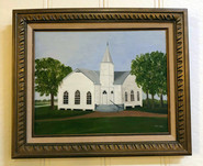Local Artist painting of the Dew Methodist Church