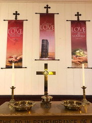 Communion Table on the Alter of Sanctuary