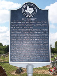 Texsa Historical Marker located in front of the cemetary.