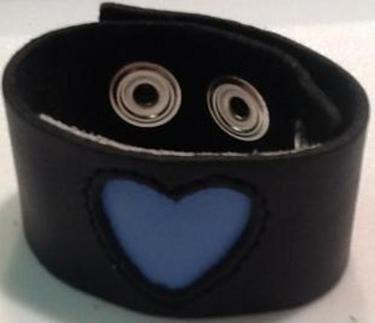 """1"""" Heart Leather Bracelet"""