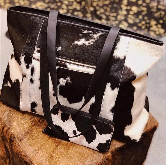 BLACK & WHITE COW FUR PAIRING