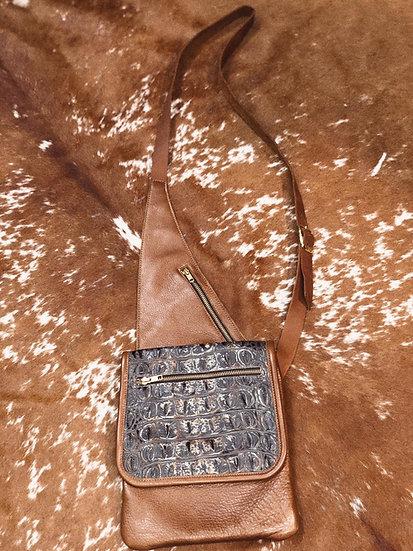 Aness Small Flat Messenger Sling Bag