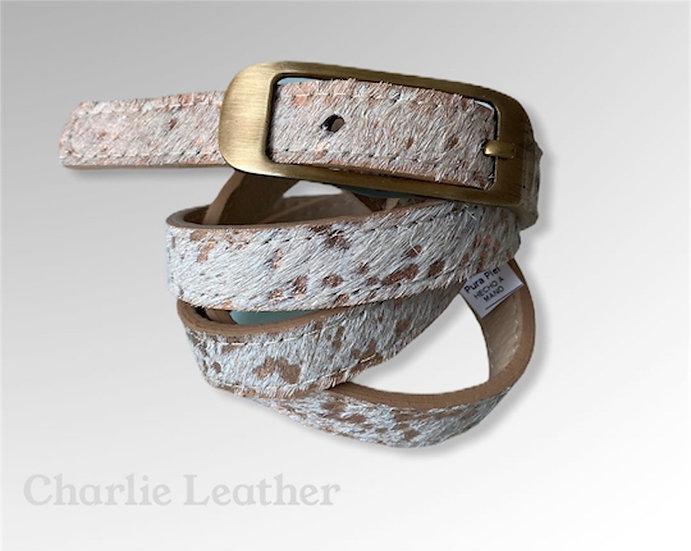 Allyn Mini Exotic Fur Belt