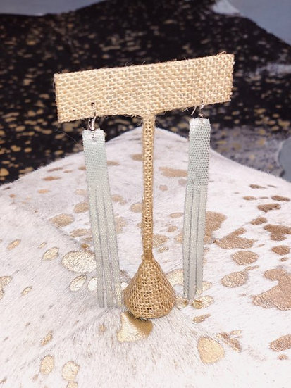 Tinsley Mini Long Bar Fringed Earrings