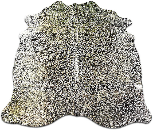 Leopard Gold Cow Hide Fur Rug