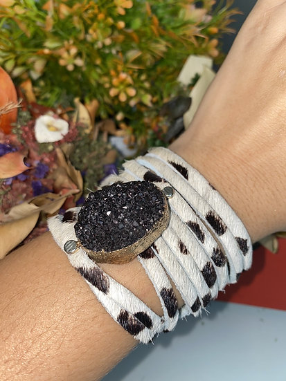Dixie Druzzy Embellished Fringed Cuff