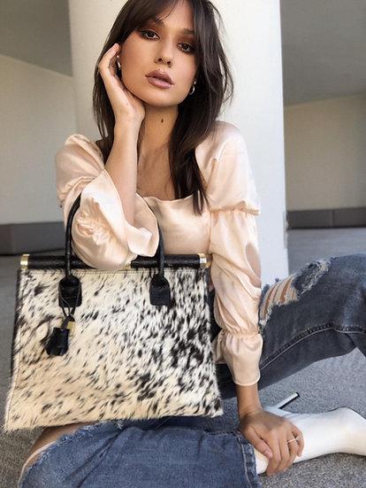 Marinella Medium Handbag with Fur