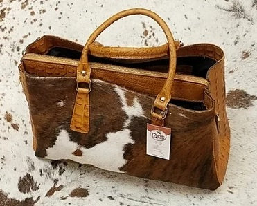Ginebra Large Lap Top Tote with Fur