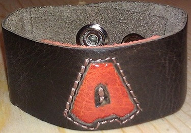 "1"" Initial Leather Bracelet"