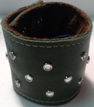 "Juliana 2"" Rhinestones Money Leather Cuff"