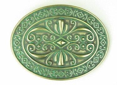 Oval Celtic Green Buckle
