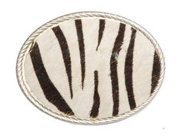 ZEBRA OVAL BUCKLE